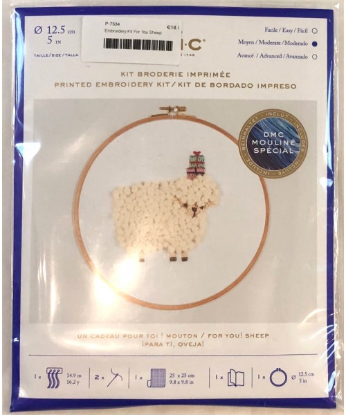 Embroidery Kit For You Sheep
